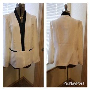 Off White and Black Tuxedo Jacket